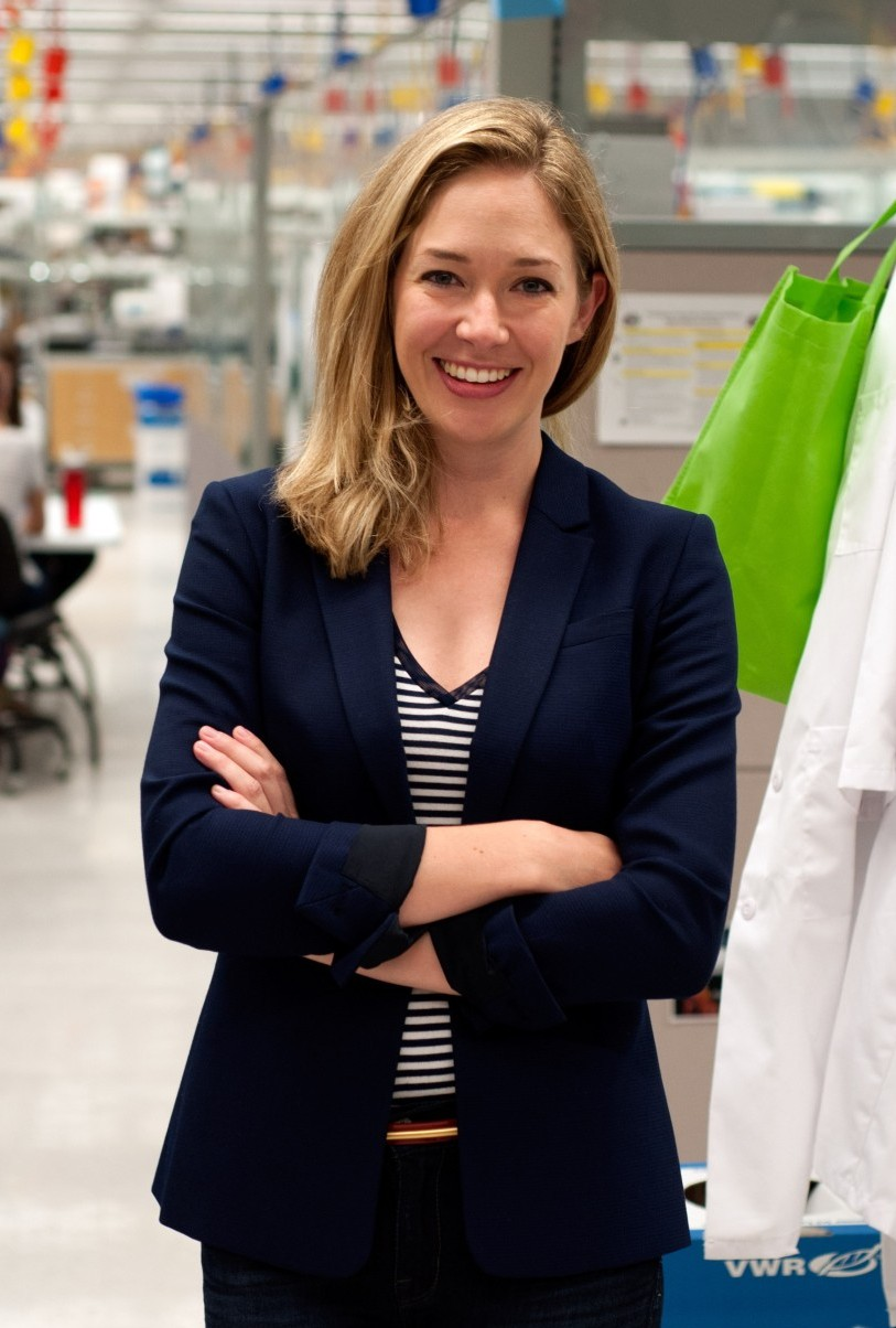 Dr Samantha Morris in the lab